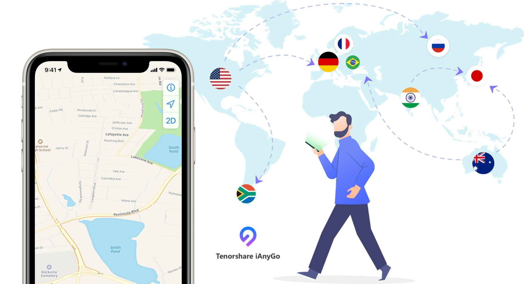 Como mudar a localização do iphone sem instalar nada nele