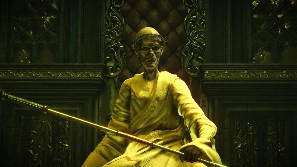 O chefe old monk, um dos mais memoráveis de demon's souls.