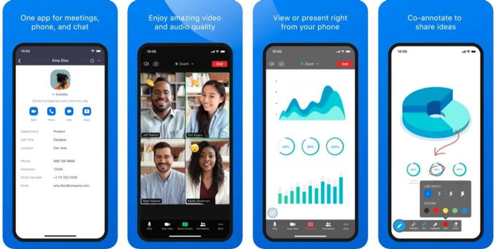 Aplicativo zoom para iphone e ipad