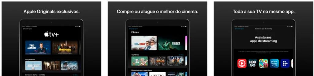 Aplicativo apple tv+ para iphone e ipad
