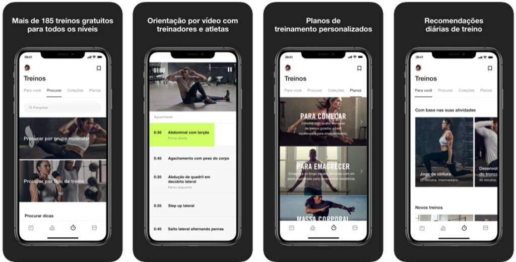 Aplicativo nike training club para práticas de exercícios direto do iphone e ipad