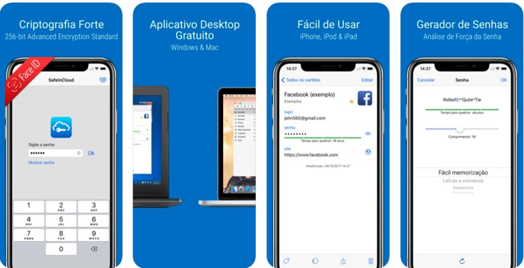Aplicativo safeincloud para iphone e ipad