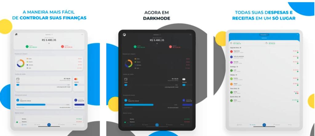Aplicativo mobills para iphone e ipad