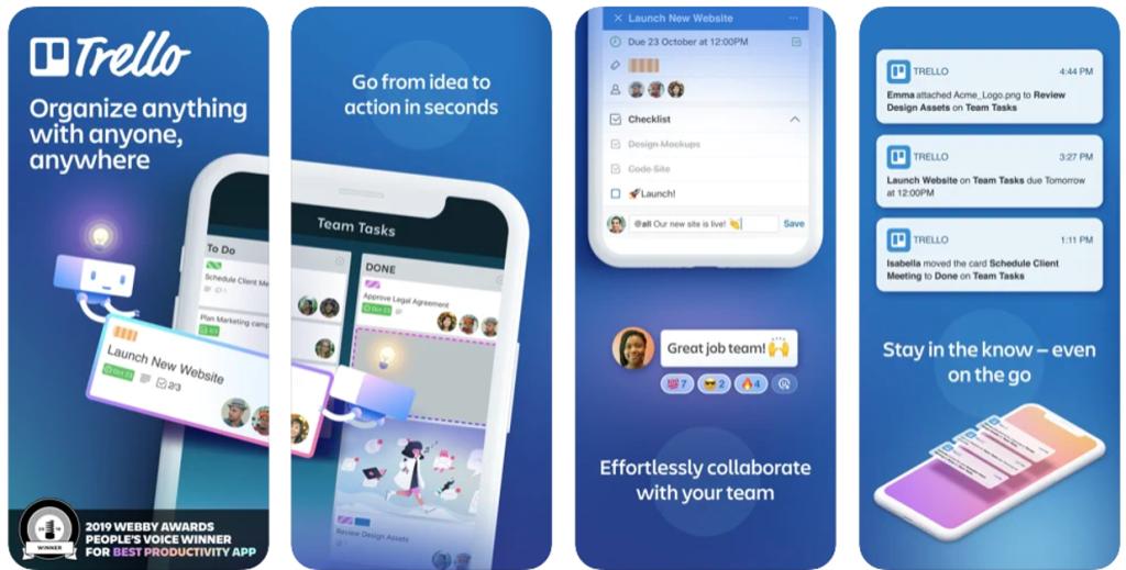Aplicativo trello para iphone e ipad