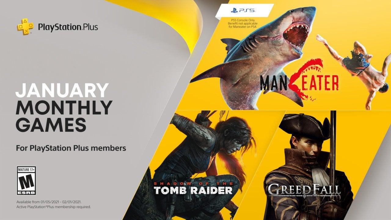 Ps plus de janeiro traz maneater, shadow of the tomb raider e greedfall. Entre na pele de um feroz tubarão, explore tumbas e descubra um mundo fantástico nos games da ps plus de janeiro de 2021