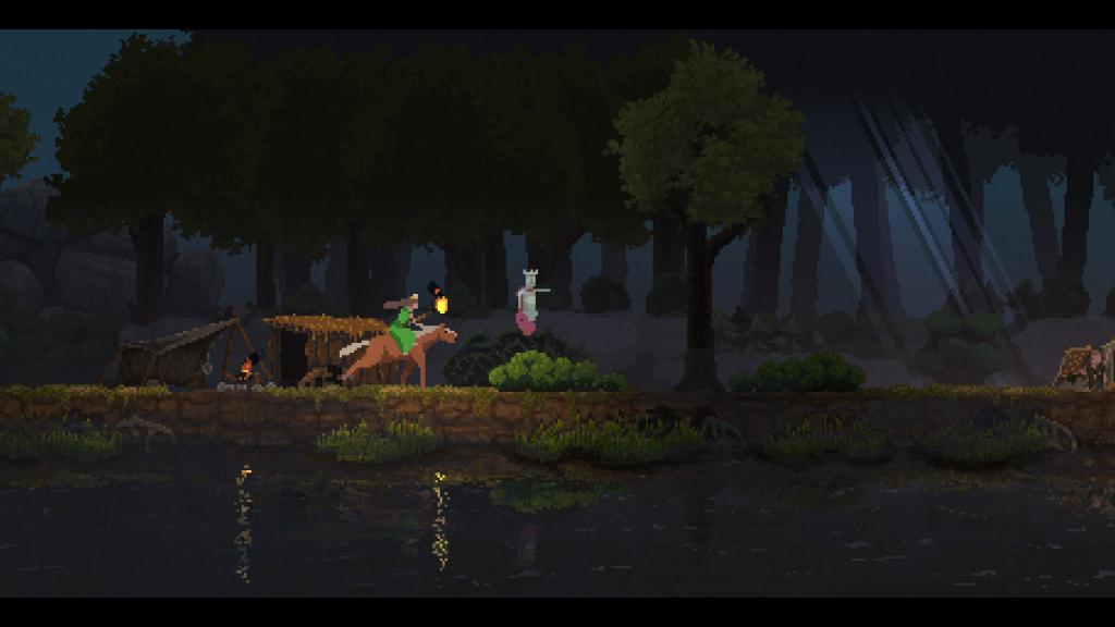 Primeira captura de tela de kingdom new lands mostrando o início do jogo