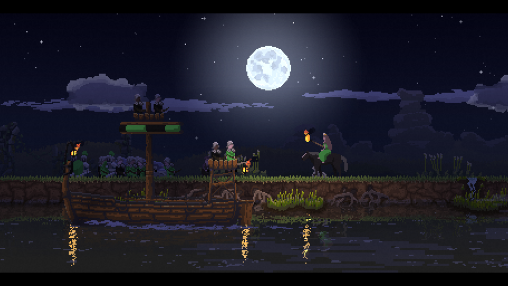 Barco construído e já na água em kingdom new lands