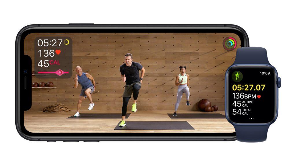 Imagem do apple fitness plus, que chega a iphones na atualização ios 14. 3