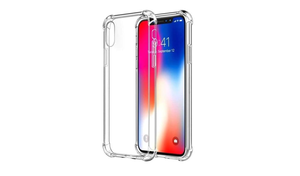 Limpeza da capinha de celular transparente