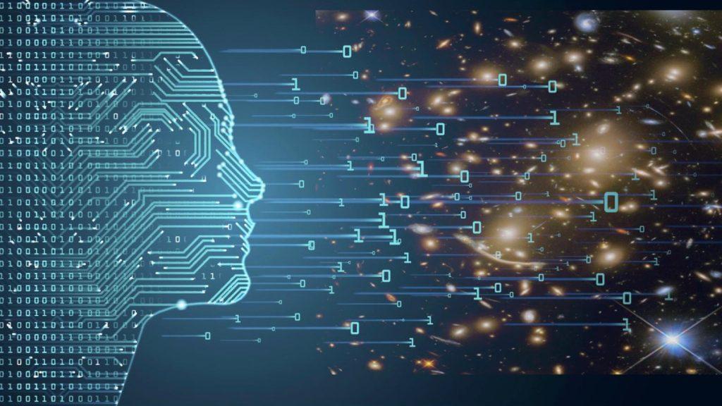 Ilustração de inteligência artificial e astronomia, assuntos explorados no evento da ibm