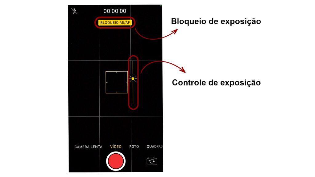As duas funcionalidades de controle de exposição nos celulares.