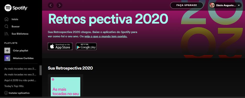Como ver a retrospectiva 2020 no spotify 1