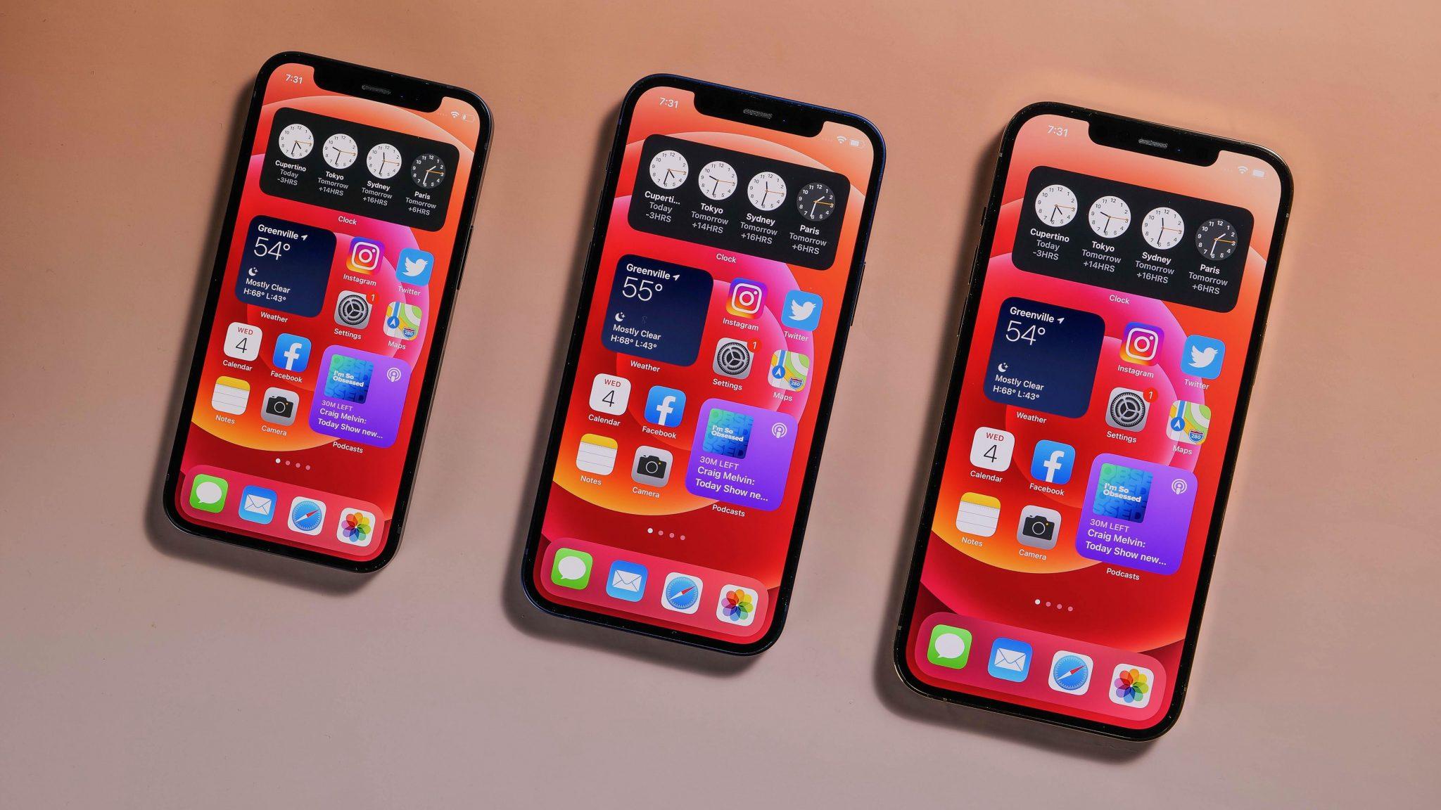 Modelos de iphone 12