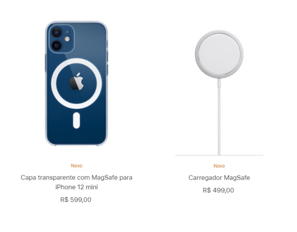 Capinha com magsafe e carregador magsafe para iphone 12 mini