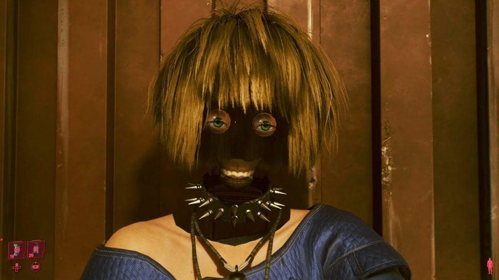 Cyberpunk 2077 glitch facial