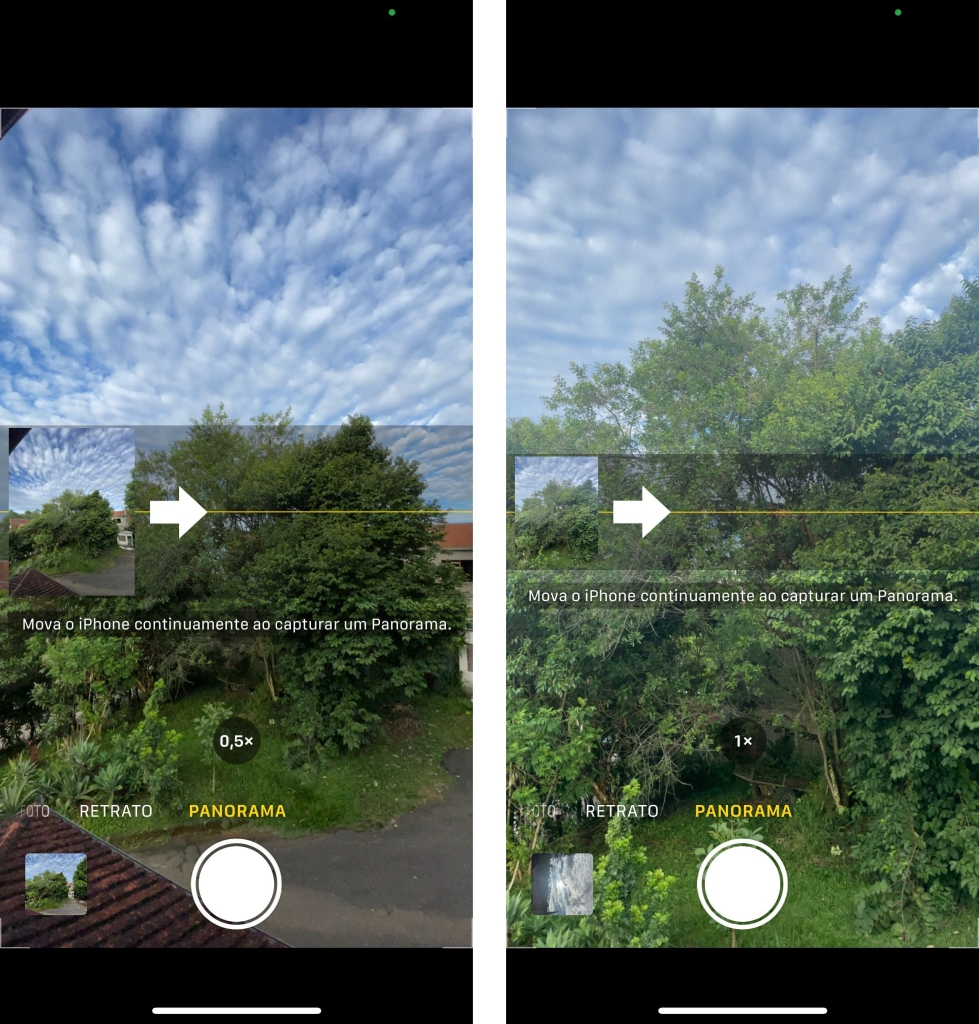 Prints do modo panorama no iphone 12 mini