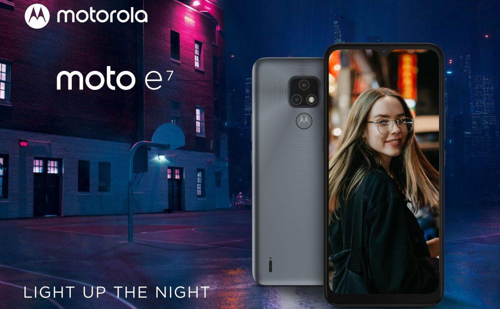 A função night vision da motorola permite faz com que a câmera do moto e7 melhore a imagem de registros em ambientes escuros
