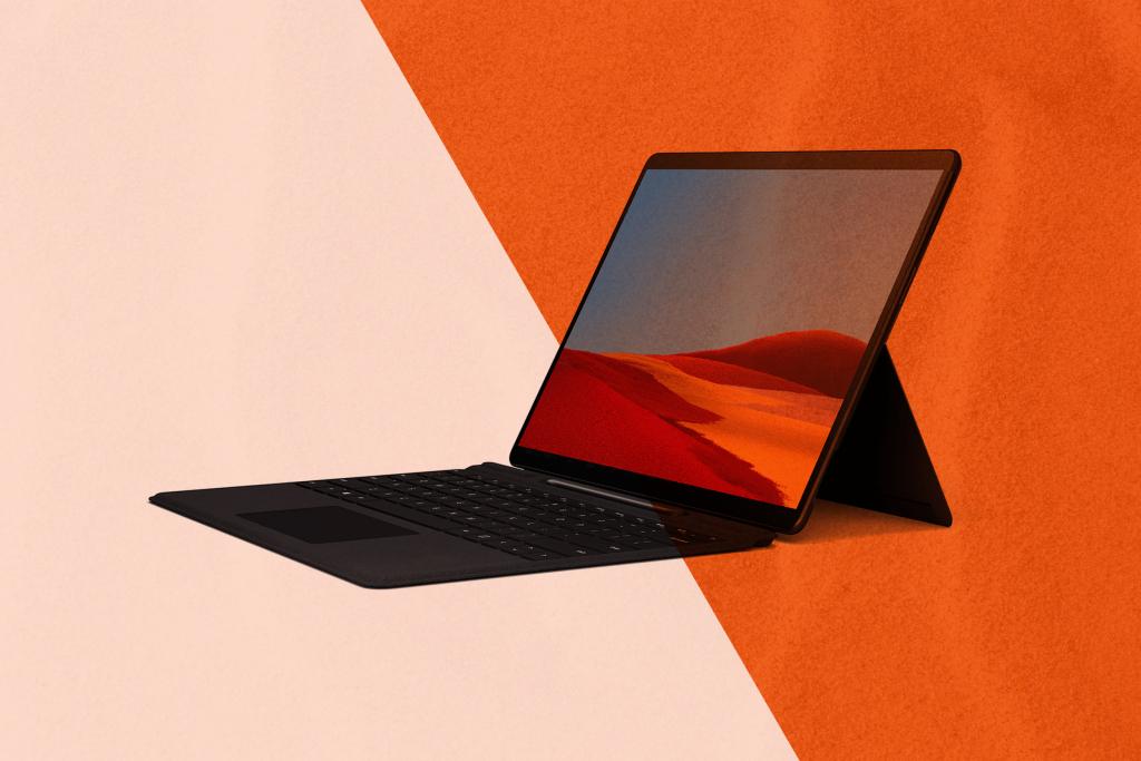 Imagem do microsoft surface pro x, que tem processador da qualcomm