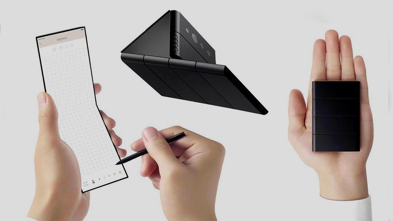 Oppo apresenta conceito de celular dobrável em 3 partes