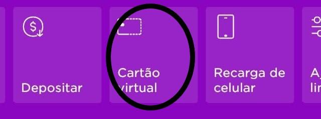 Uma das dicas do nubank é usar o cartão virtual