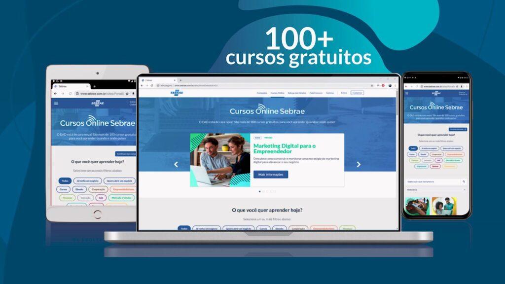 Sebrae oferece mais de 100 cursos gratuitos