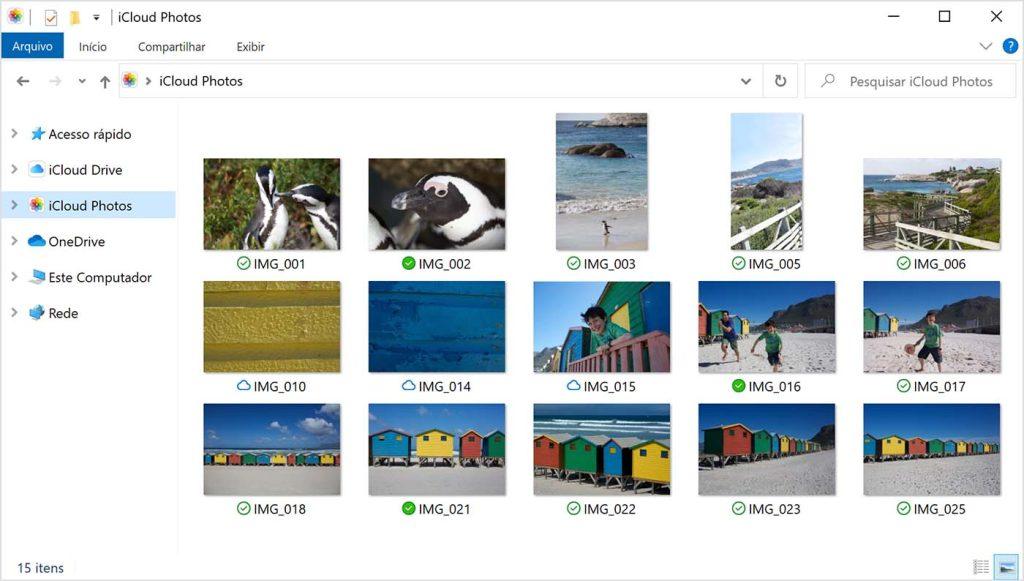 Print de fotos no icloud para windows 10
