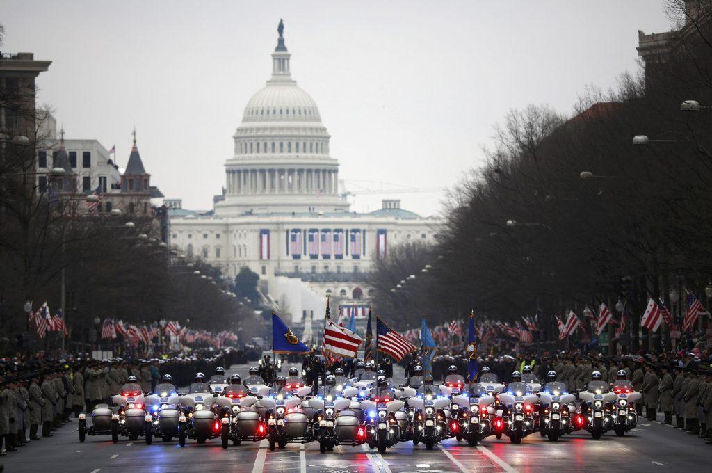 "Desfile do ""inauguration day"""