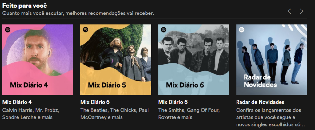 Spotify oferece playlists personalizada para você
