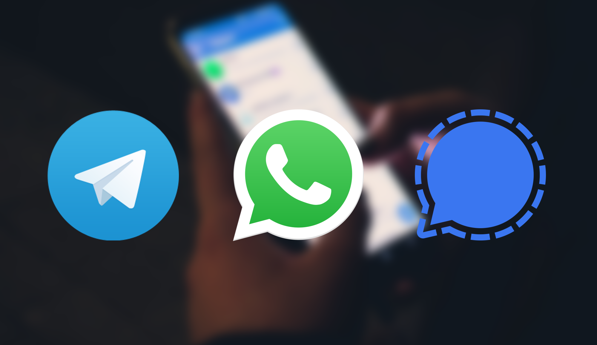 Whatsapp vs telegram vs. Signal, qual app de mensagens é mais seguro?