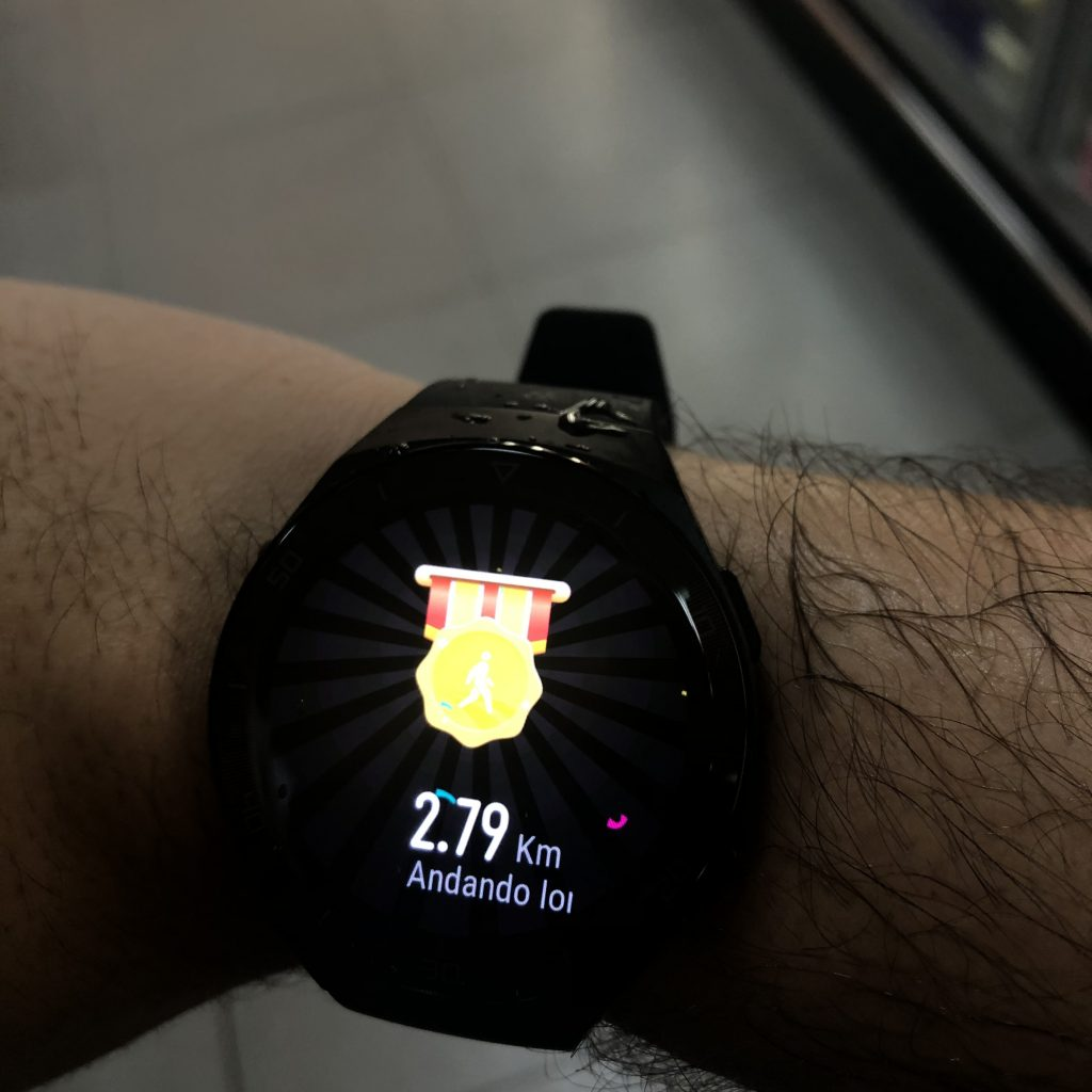 Fim do treino huawei watch gt 2e