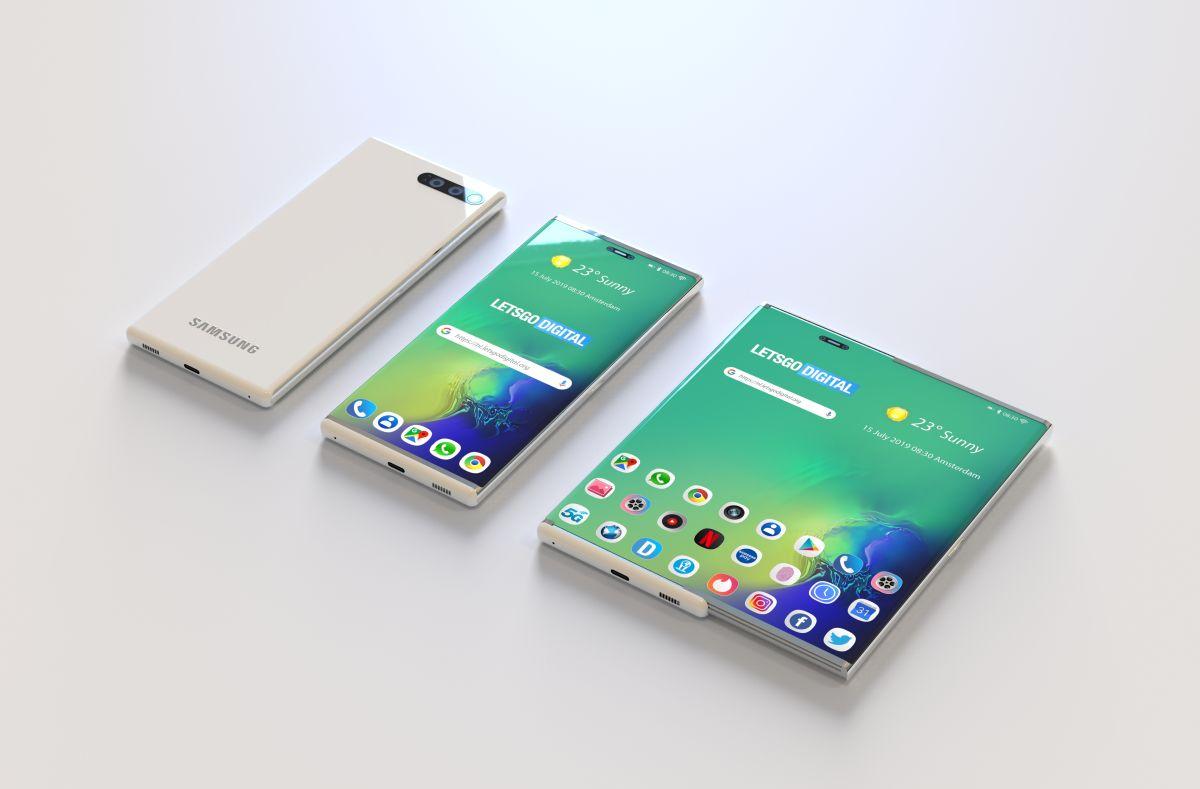 Patente revela o futuro celular enrolável da samsung. Ao que tudo indica, o futuro celular enrolável da samsung terá o dobro da dimensão da tela após expansão, e pode ser o primeiro a chegar no mercado