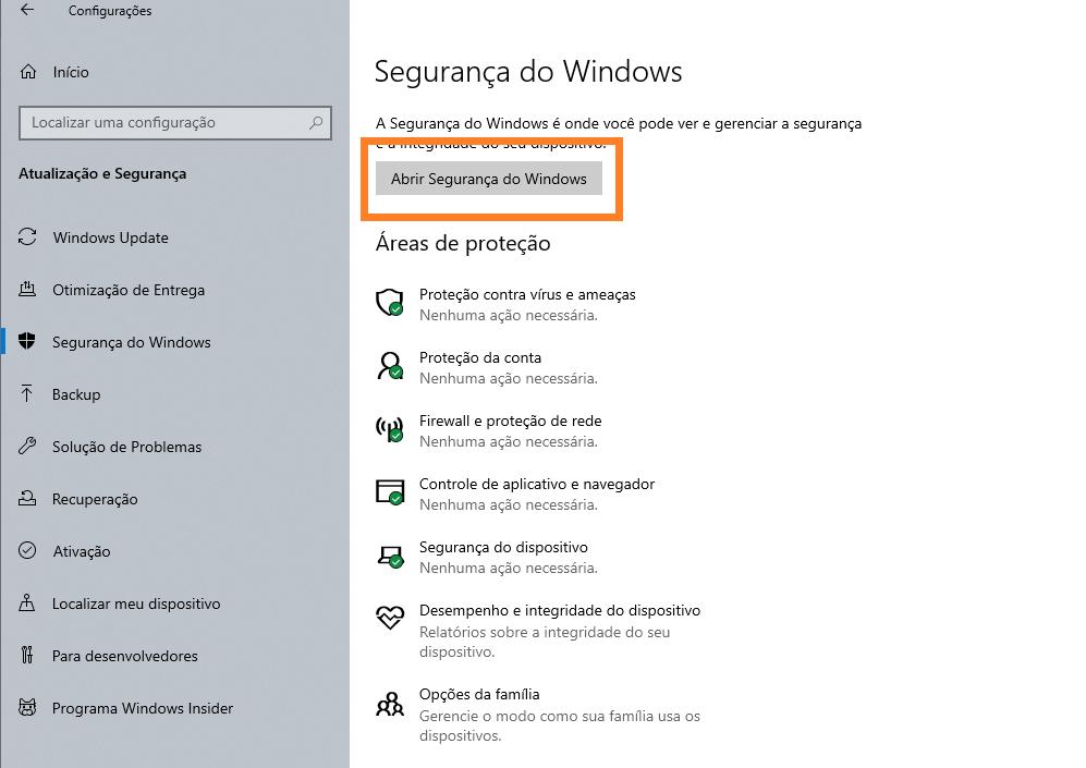 Segurança do windows