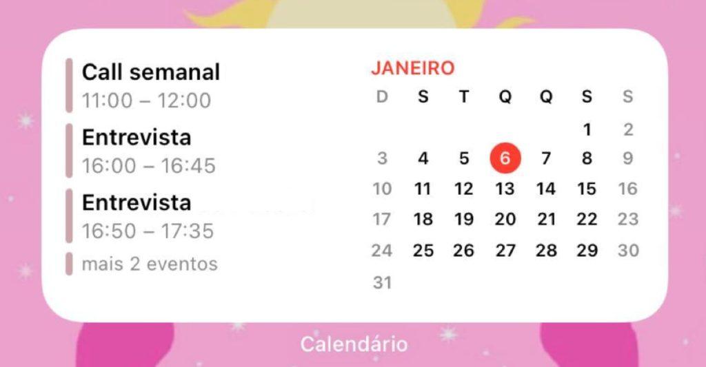 Entre os widgets para iphone existentes, o calendário é um dos que ajuda a manter a tela organizada e a simplificar a vida