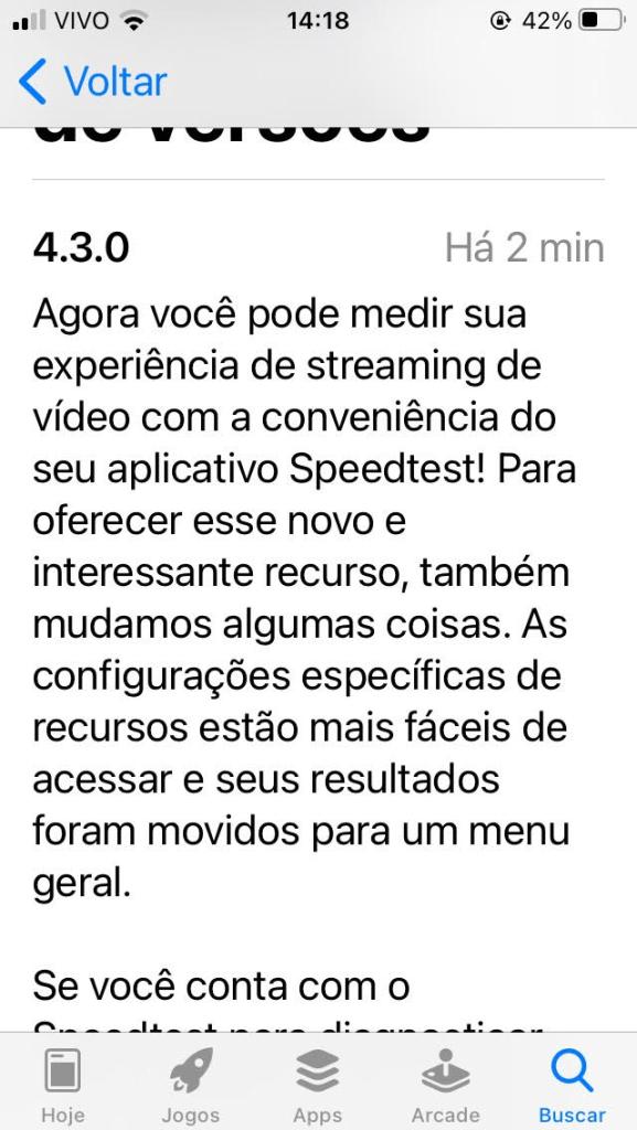 Teste de velocidade para streaming agora está disponível no aplicativo speedtest para iphone