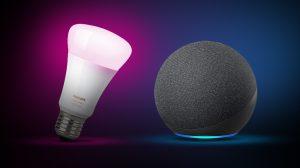 Philips hue e amazon echo, essenciais para casas inteligentes. A lâmpada inteligente philips hue pode servir muito bem com seu speaker amazon echo, trazendo um enorme leque de possibilidades para uma casa conectada!