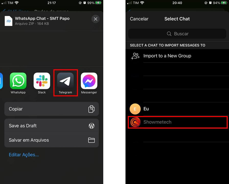 Telegram permite importar conversas do whatsapp. Telegram 7. 4 traz a opção de importar conversas do whatsapp, que é uma função a mais para quem quer trocar de mensageiro