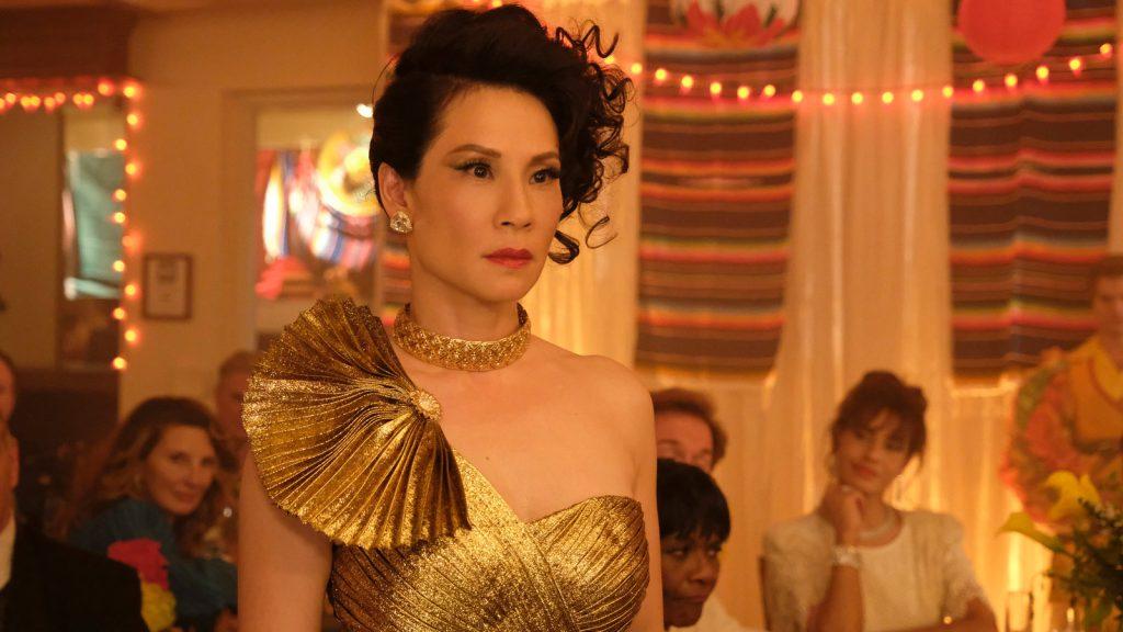 Simone em vestido de festa