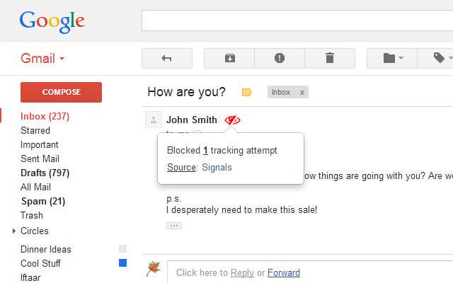 Pixelblock é uma das extensões de navegador que protegem a privacidade