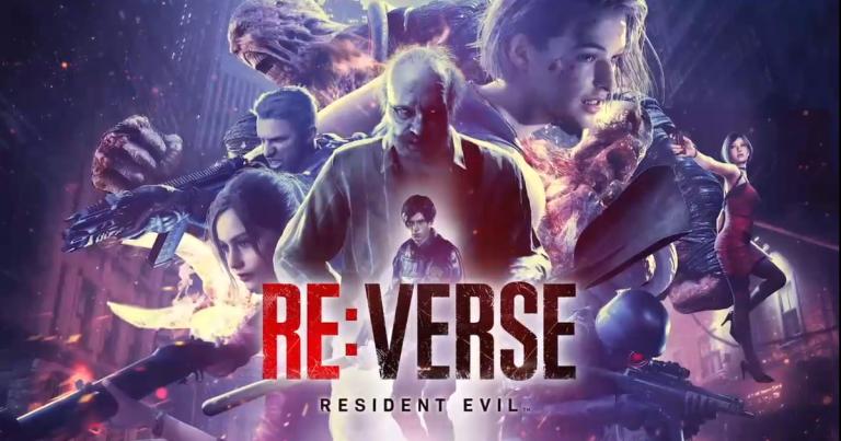Personagens da franquia Resident Evil estão juntos e o título Resident Evil: Re:Verse logo abaixo deles
