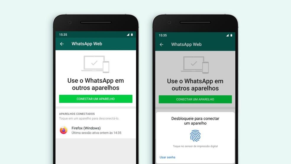 Biometria no whatsapp web