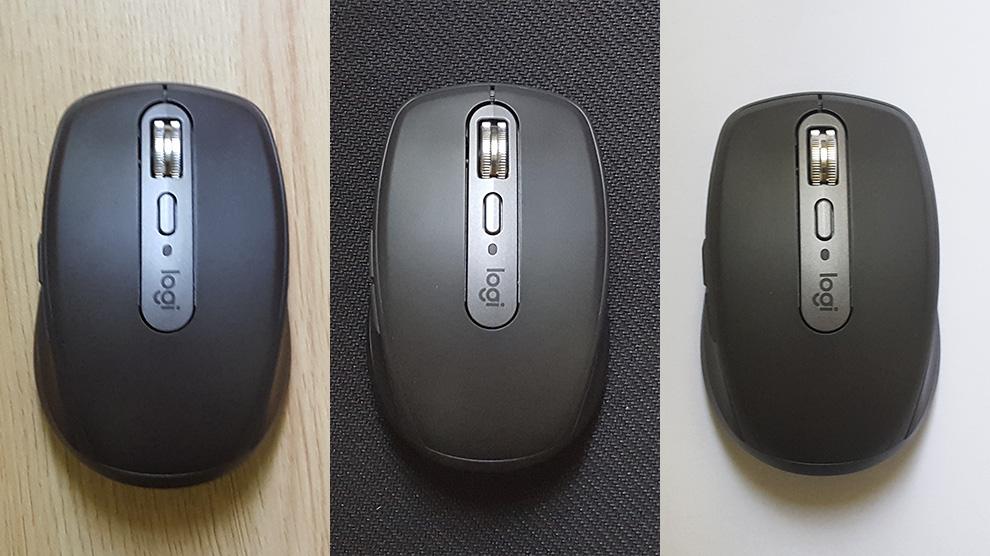 Mouse mx anhywhere 3 em diversas superfícies.