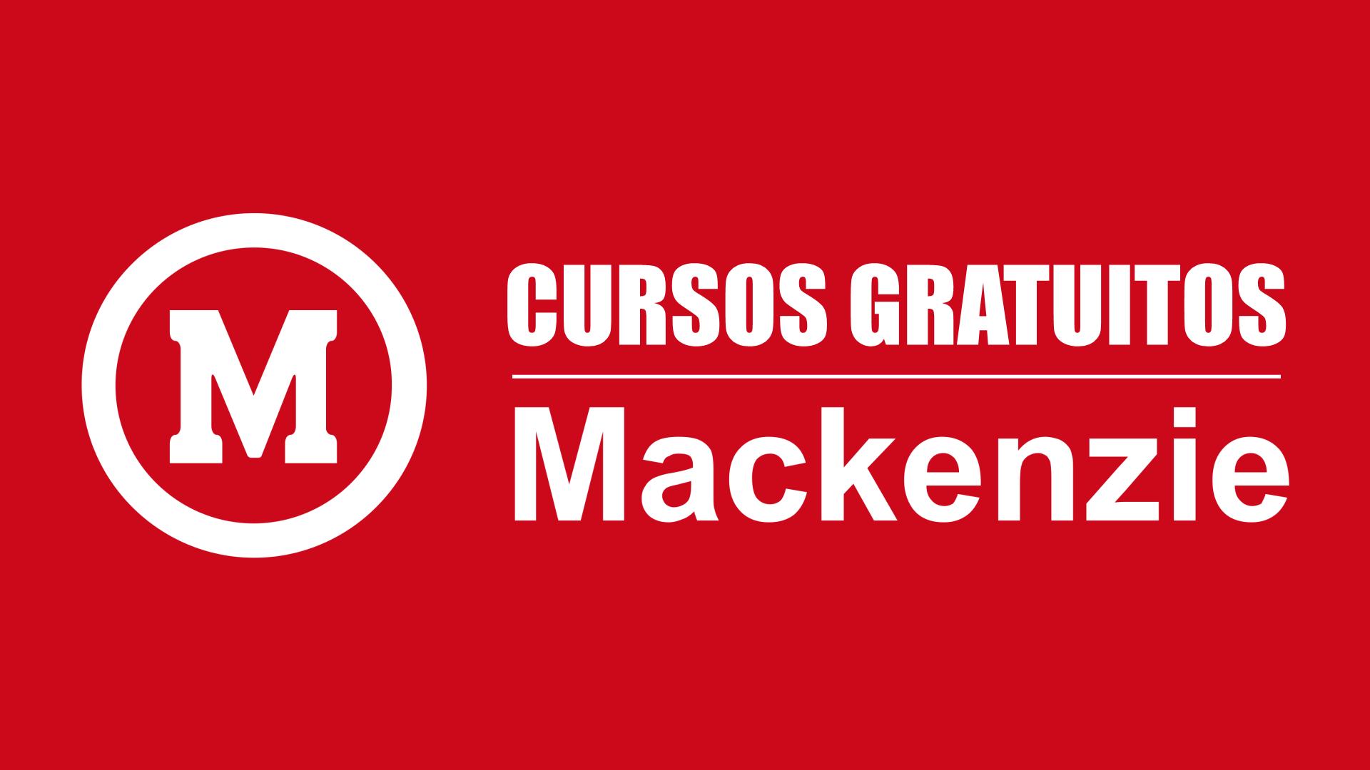 Cursos gratuitos mackenzie logo png fundo vermelho