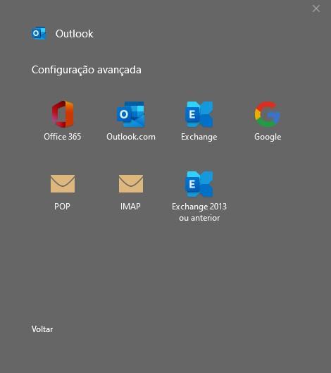 Configuração avançada de e-mail no outlook