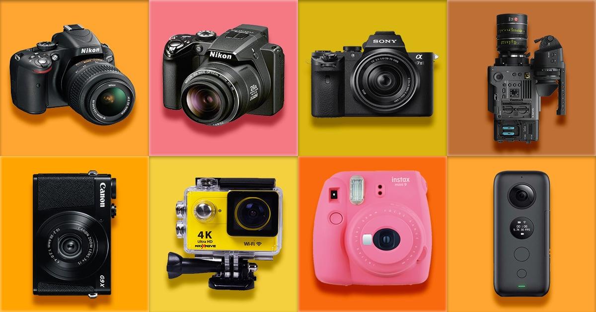 12 tipos de câmera para você conhecer e experimentar