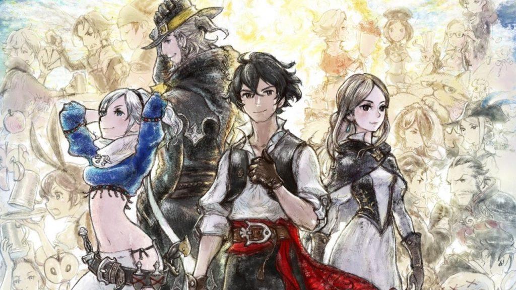 Os quatro personagens principais de bravely default 2