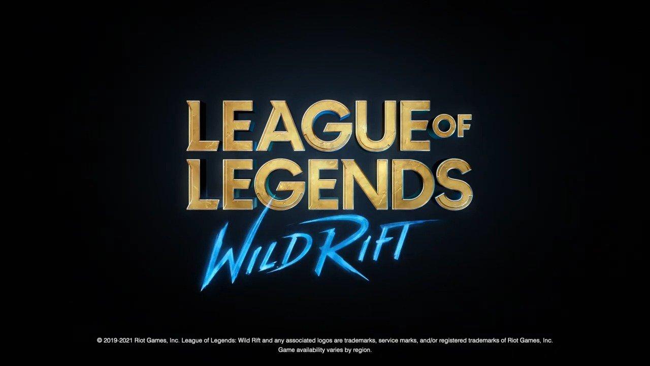 Imagem em preto escrito league of legends: wild rift