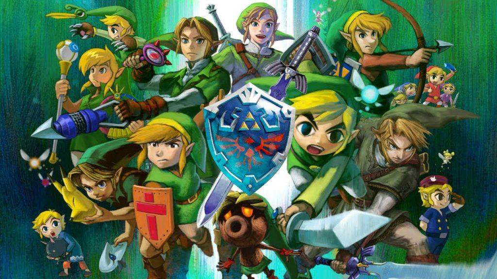 Durante os 35 anos de the legend of zelda, link mudou diversas vezes em cada um dos jogos. Muitas das vezes, sua aparência segue a tendência da linha do tempo em que o game está situado.