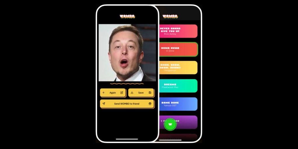 O wombo é um app de deepfake fácil e prático de usar para criar vídeos deepfake e compartilhar nas redes sociais