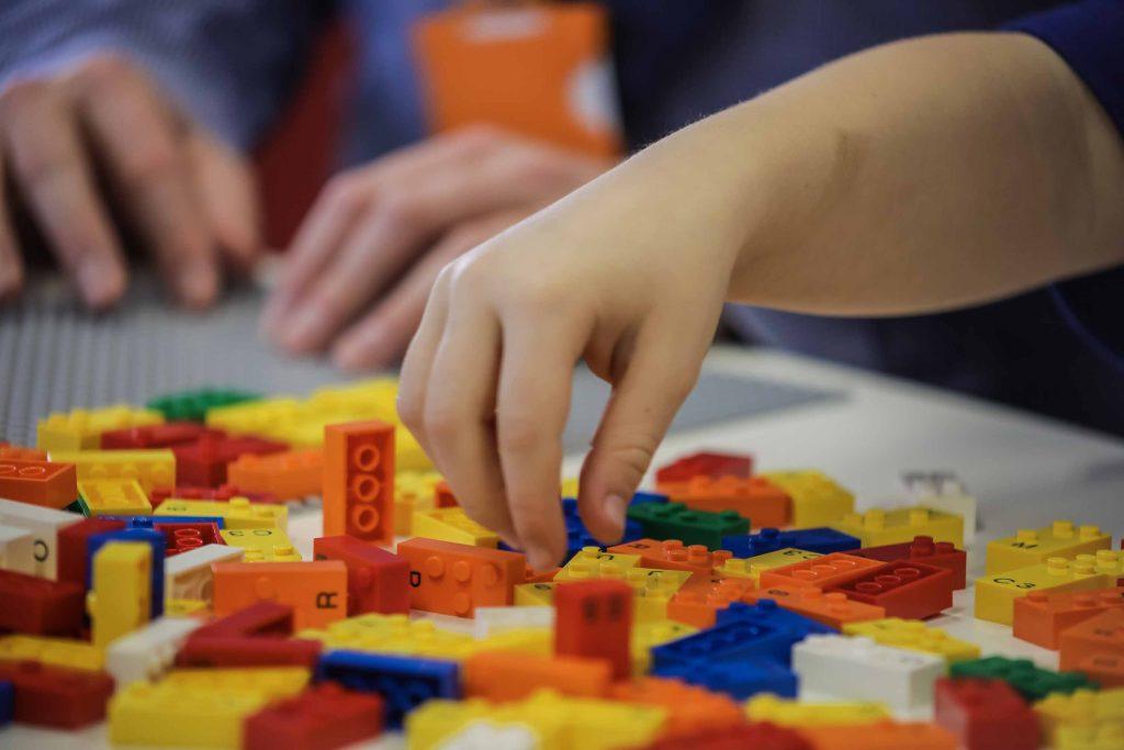 Blocos de lego feitos de plástico especial