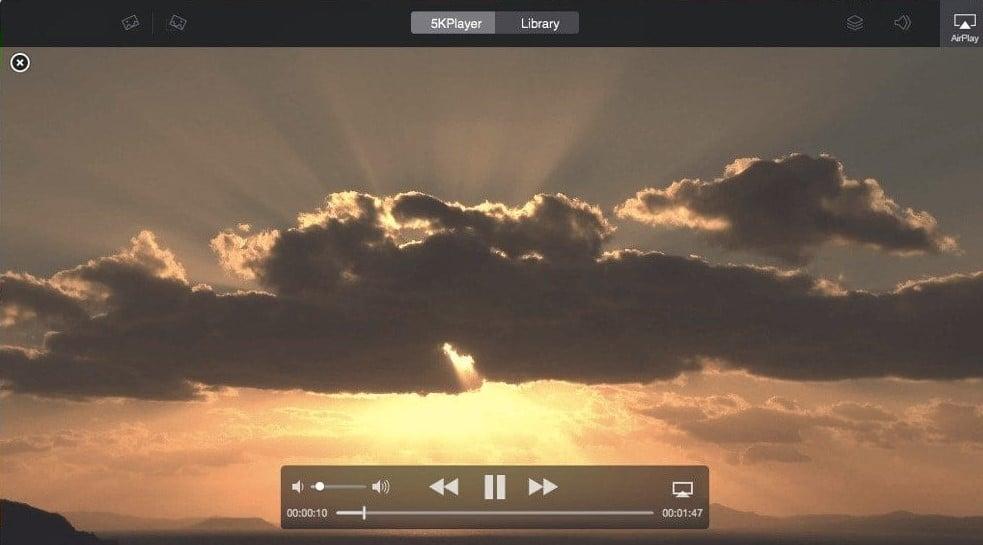 Reprodutores de vídeo: 5kplayer